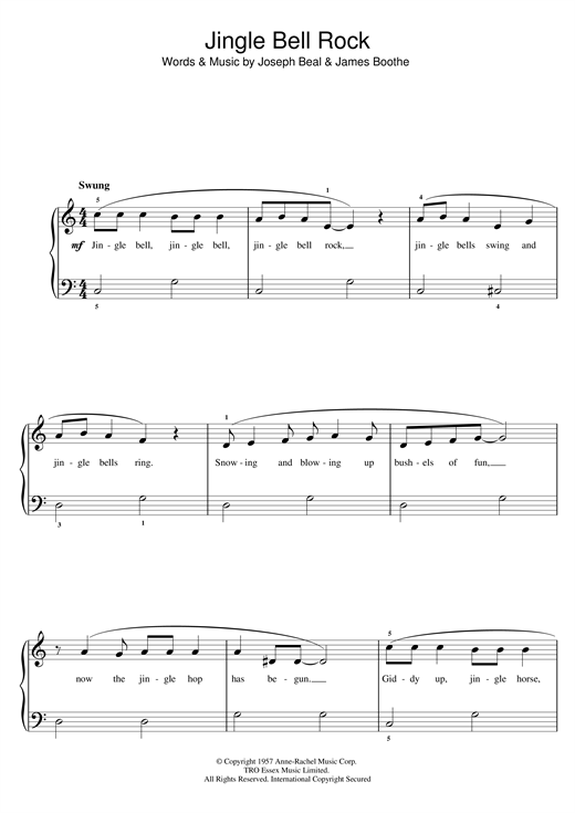 Piano : piano chords jingle bell rock Piano Chords Jingle Bell and ...