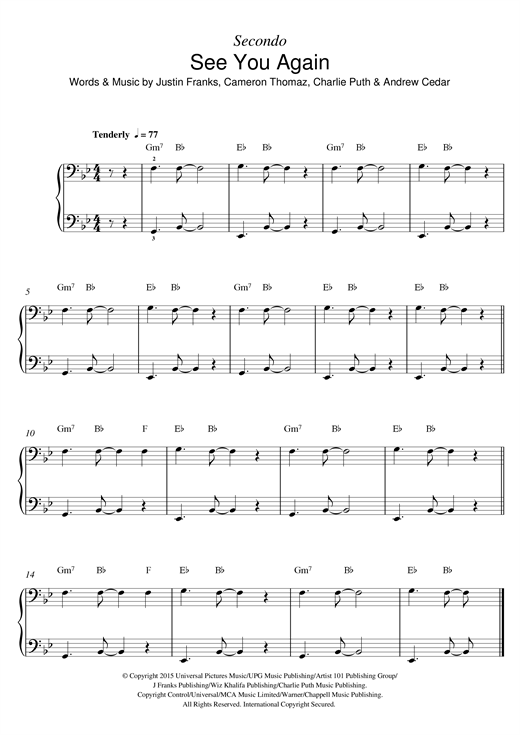 Guitar guitar chords see you again : Piano : piano chords of see you again Piano Chords Of See as well ...