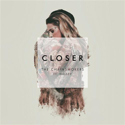 The Chainsmokers, Closer (feat. Halsey), Piano, Vocal & Guitar (Right-Hand Melody), sheet music, piano notes, chords, song, artist, awards, billboard, mtv, vh1, tour, single, album, release
