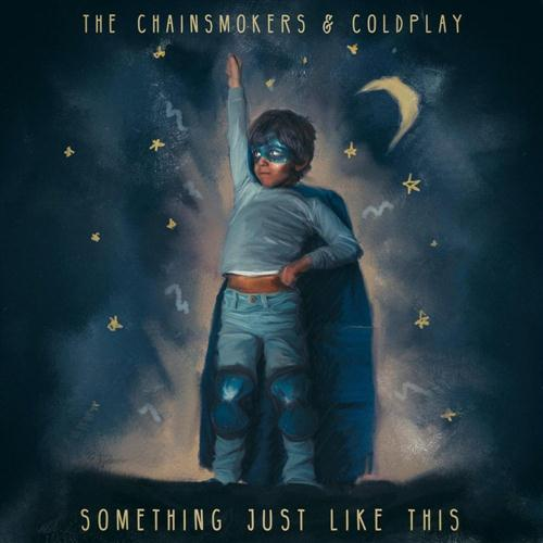 The Chainsmokers & Coldplay, Something Just Like This, Piano, Vocal & Guitar (Right-Hand Melody), sheet music, piano notes, chords, song, artist, awards, billboard, mtv, vh1, tour, single, album, release