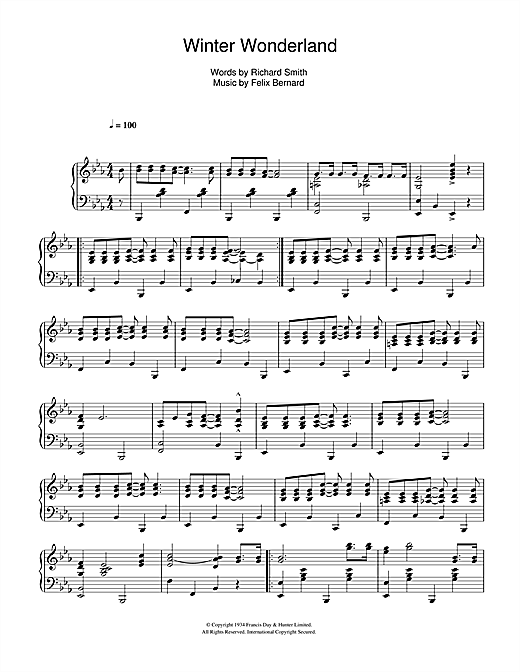 Johnny Mathis Winter Wonderland sheet music notes and chords. Download Printable PDF.