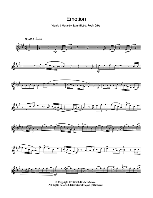 Destiny's Child Emotion sheet music notes and chords. Download Printable PDF.