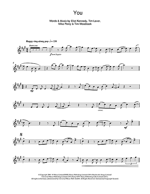 S Club 7 You sheet music notes and chords. Download Printable PDF.
