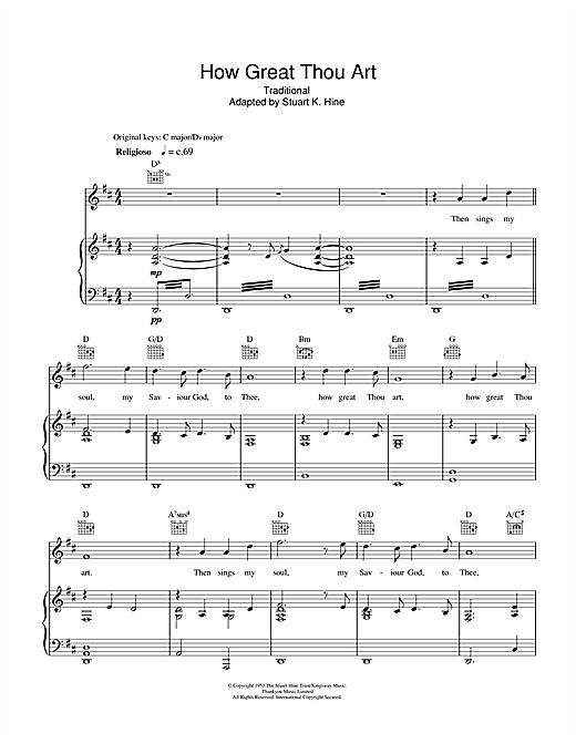 Rhydian How Great Thou Art sheet music notes and chords. Download Printable PDF.