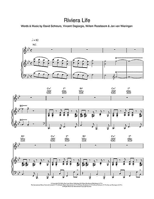 Caro Emerald Riviera Life sheet music notes and chords. Download Printable PDF.