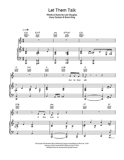 Hugh Laurie Let Them Talk sheet music notes and chords. Download Printable PDF.