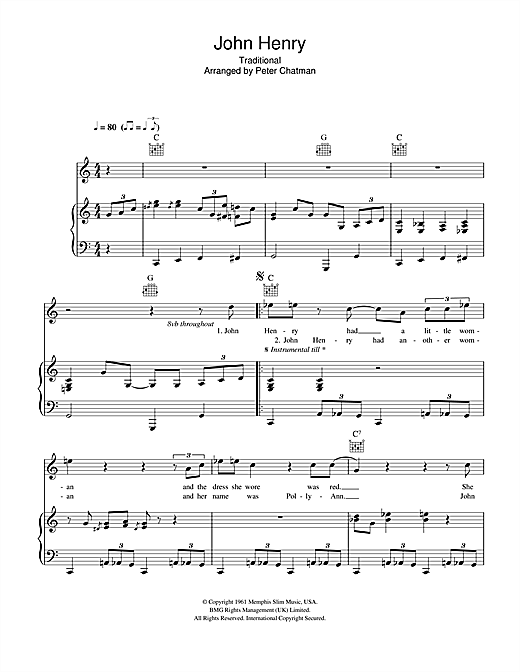 Hugh Laurie John Henry sheet music notes and chords. Download Printable PDF.
