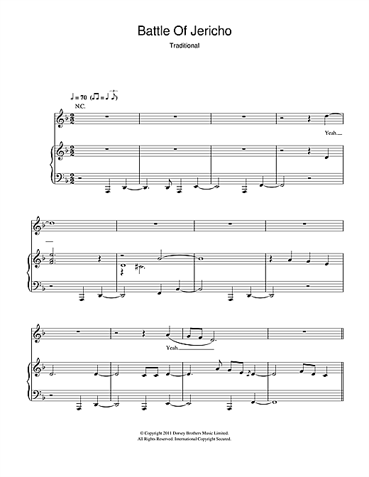 Hugh Laurie Joshua Fit De Battle Of Jericho sheet music notes and chords. Download Printable PDF.