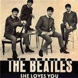 Download or print The Beatles She Loves You Sheet Music Printable PDF -page score for Pop / arranged Guitar SKU: 110135.