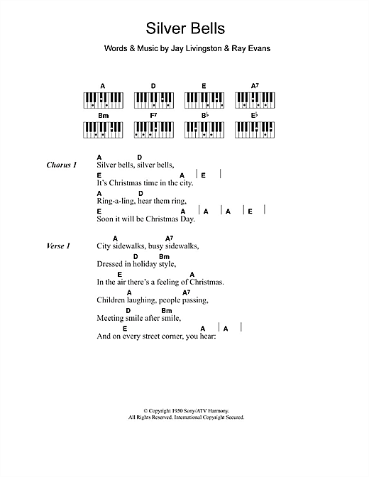 Jerry Vale Silver Bells sheet music notes and chords. Download Printable PDF.