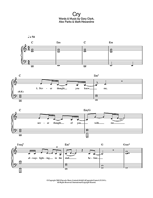 Alex Parks Cry sheet music notes and chords. Download Printable PDF.