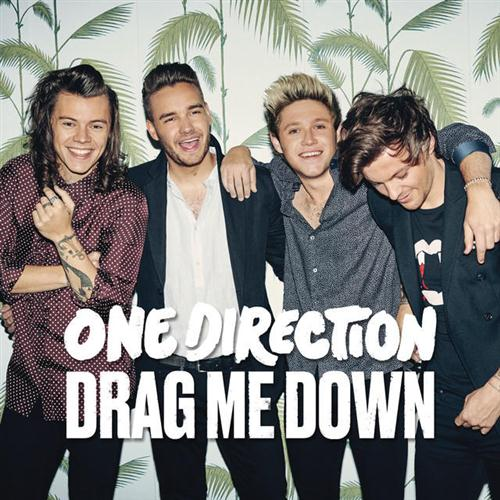 One Direction, Drag Me Down, Piano, Vocal & Guitar (Right-Hand Melody), sheet music, piano notes, chords, song, artist, awards, billboard, mtv, vh1, tour, single, album, release