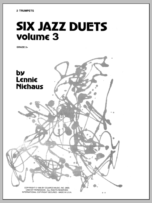 Niehaus Six Jazz Duets, Volume 3 sheet music notes and chords. Download Printable PDF.