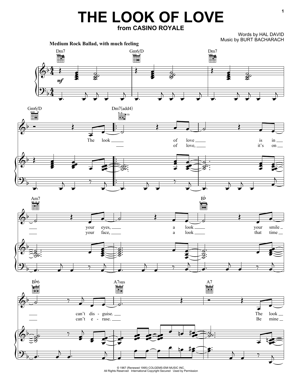 Diana Krall The Look Of Love sheet music notes and chords. Download Printable PDF.