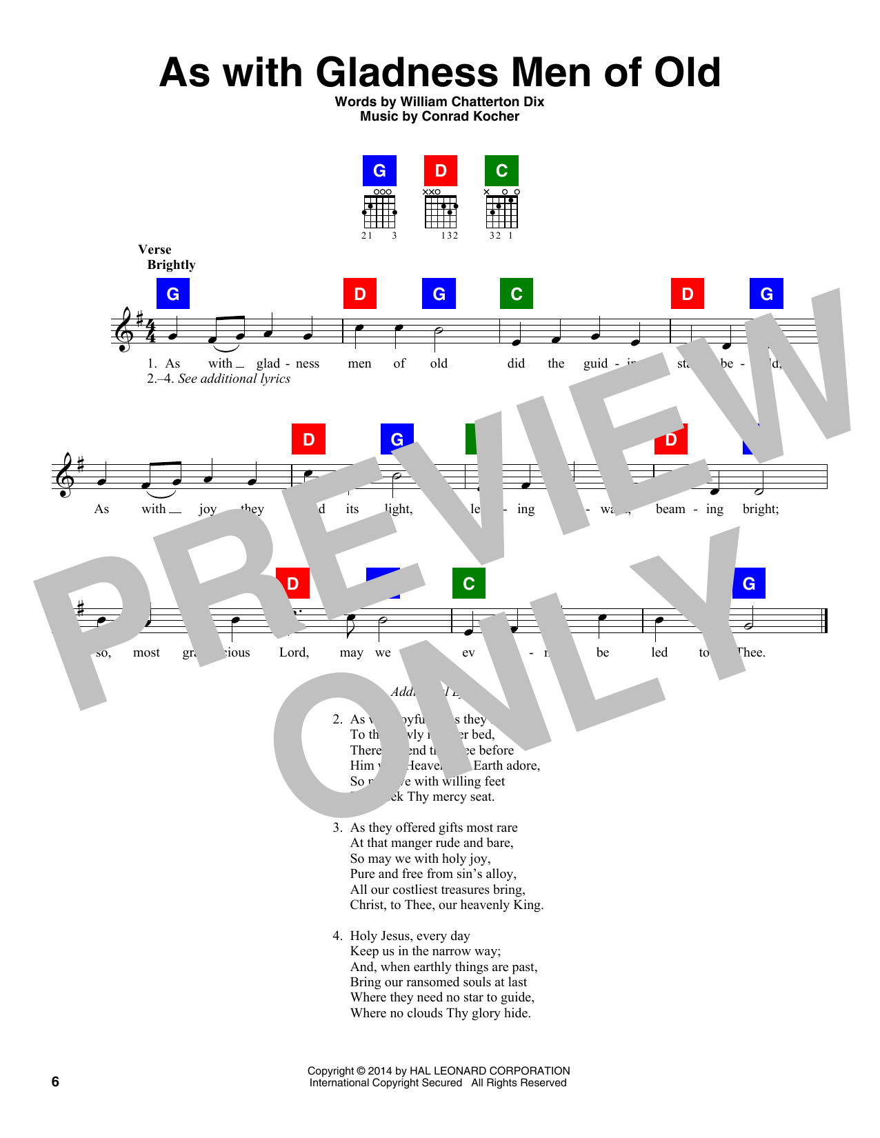 William Chatterton Dix As With Gladness Men Of Old sheet music notes and chords. Download Printable PDF.