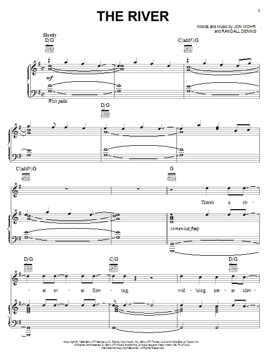 Steve Green The River sheet music notes and chords. Download Printable PDF.