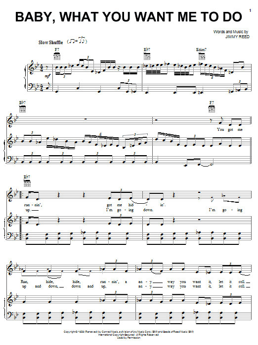 Etta James Baby, What You Want Me To Do sheet music notes and chords. Download Printable PDF.