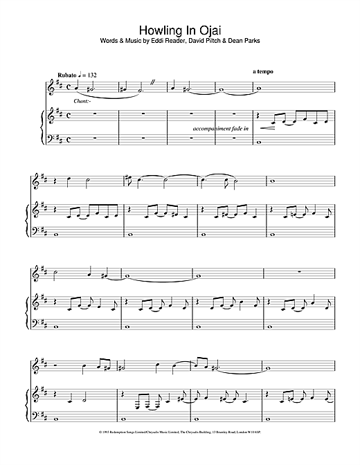 Eddi Reader Howling In Ojai sheet music notes and chords. Download Printable PDF.