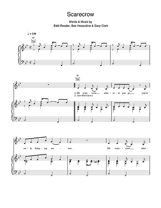 Eddi Reader Scarecrow sheet music notes and chords. Download Printable PDF.
