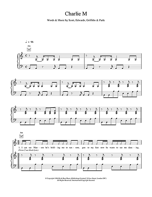 Space Charlie M sheet music notes and chords. Download Printable PDF.