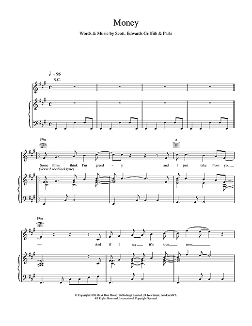 Space Money sheet music notes and chords. Download Printable PDF.