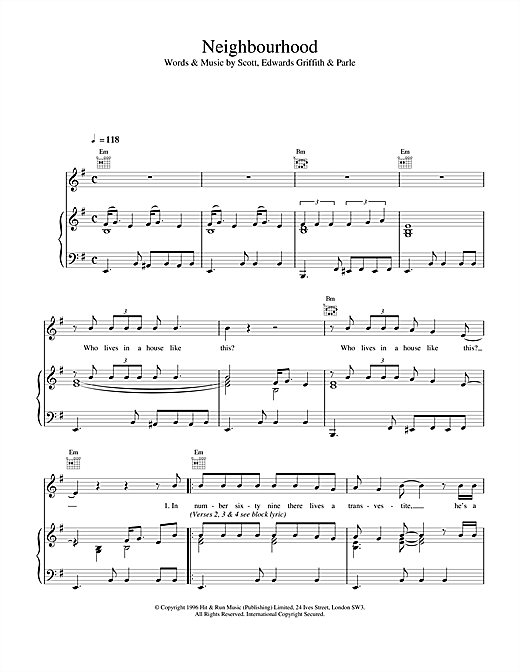 Space Neighbourhood sheet music notes and chords. Download Printable PDF.