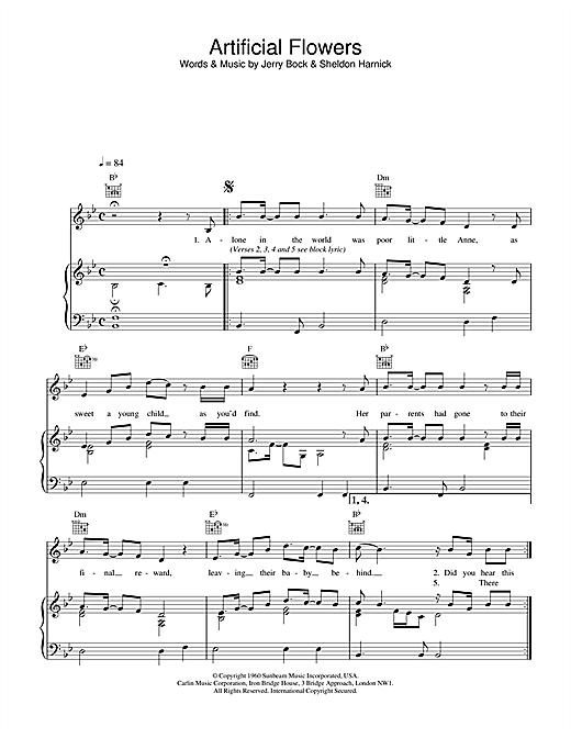 The Beautiful South Artificial Flowers sheet music notes and chords. Download Printable PDF.