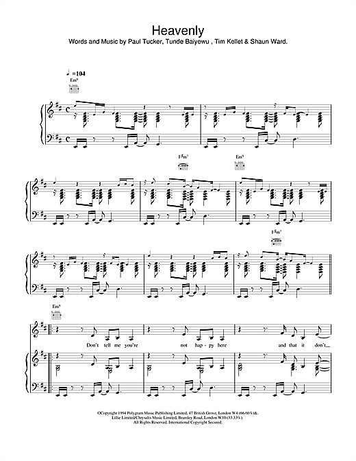 The Lighthouse Family Heavenly sheet music notes and chords. Download Printable PDF.