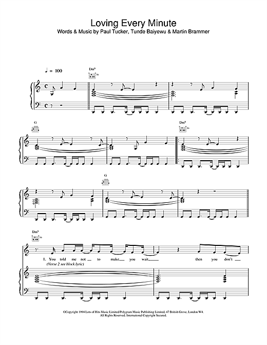 The Lighthouse Family Loving Every Minute sheet music notes and chords. Download Printable PDF.