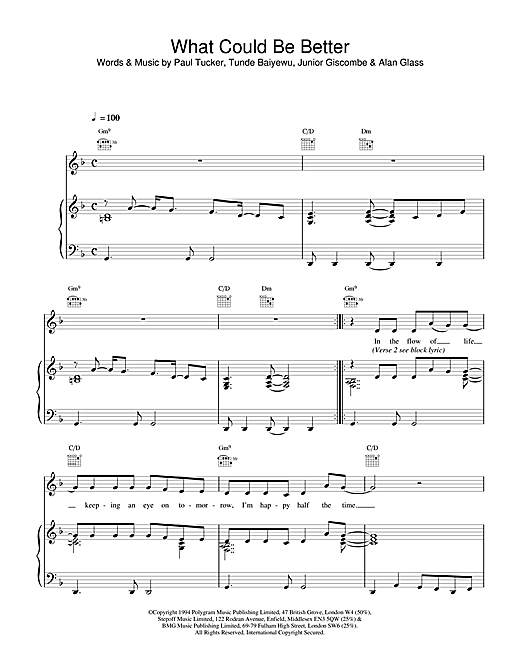 The Lighthouse Family What Could Be Better sheet music notes and chords. Download Printable PDF.