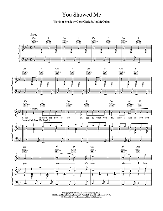 The Lightning Seeds You Showed Me sheet music notes and chords. Download Printable PDF.
