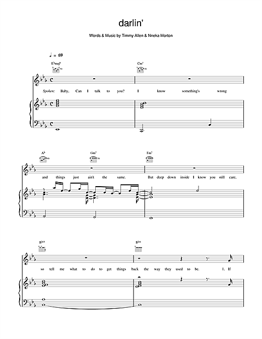 Backstreet Boys Darlin' sheet music notes and chords. Download Printable PDF.