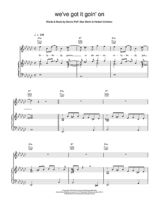 Backstreet Boys We've Got It Goin' On sheet music notes and chords. Download Printable PDF.