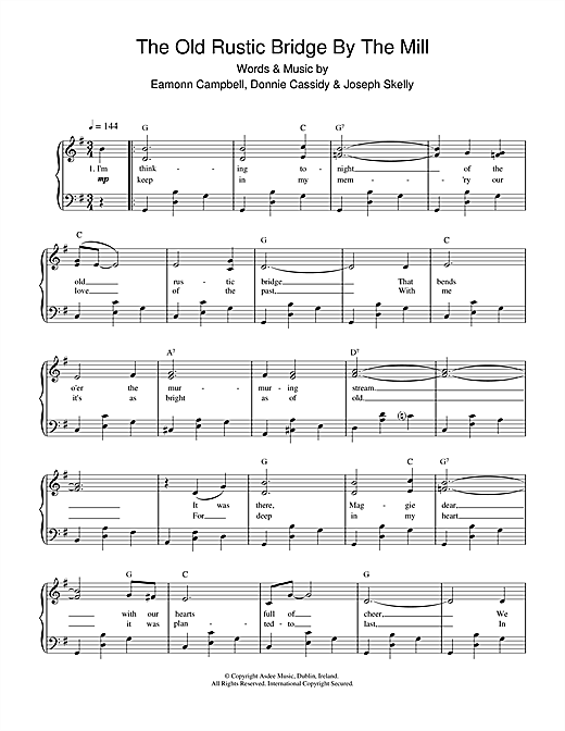 Eamonn Campbell The Old Rustic Bridge By The Mill sheet music notes and chords. Download Printable PDF.