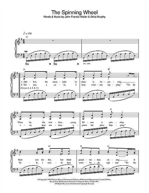 John Francis Waller The Spinning Wheel Song sheet music notes and chords. Download Printable PDF.