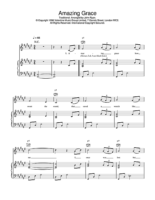 Daniel O'Donnell Amazing Grace sheet music notes and chords. Download Printable PDF.