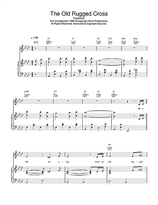 Daniel O'Donnell The Old Rugged Cross sheet music notes and chords. Download Printable PDF.