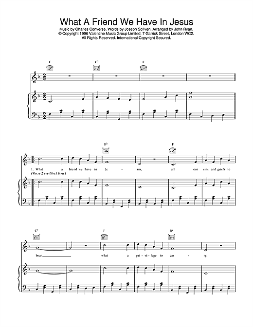 Daniel O'Donnell What A Friend We Have In Jesus sheet music notes and chords. Download Printable PDF.