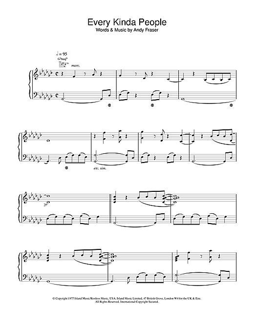 Robert Palmer Every Kinda People sheet music notes and chords. Download Printable PDF.