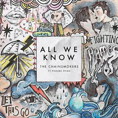 The Chainsmokers, All We Know (feat. Phoebe Ryan), Piano, Vocal & Guitar (Right-Hand Melody), sheet music, piano notes, chords, song, artist, awards, billboard, mtv, vh1, tour, single, album, release