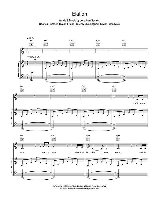 The Levellers Elation sheet music notes and chords. Download Printable PDF.