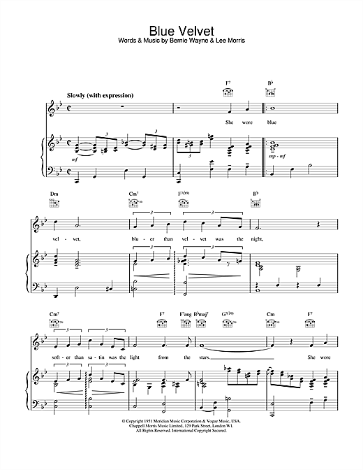 M People Blue Velvet sheet music notes and chords. Download Printable PDF.