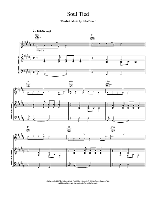 Cast Soul Tied sheet music notes and chords. Download Printable PDF.