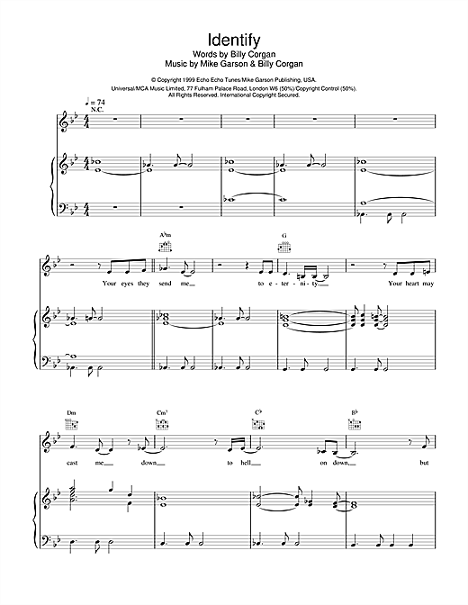 Natalie Imbruglia Identify (from Stigmata) sheet music notes and chords. Download Printable PDF.