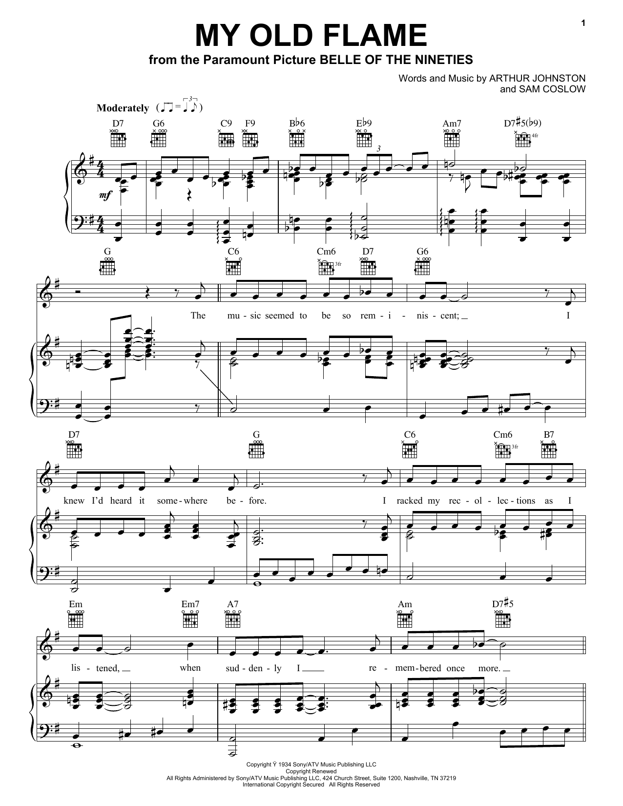 Peggy Lee My Old Flame sheet music notes and chords. Download Printable PDF.