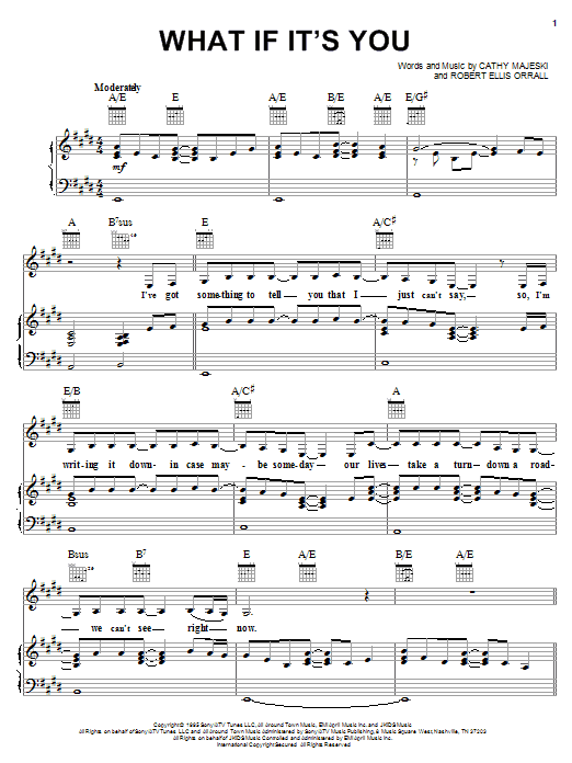Reba McEntire What If It's You sheet music notes and chords. Download Printable PDF.