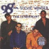 Download or print 98 Degrees True To Your Heart (Pop Version) (feat. Stevie Wonder) Sheet Music Printable PDF -page score for Pop / arranged Piano, Vocal & Guitar (Right-Hand Melody) SKU: 18209.