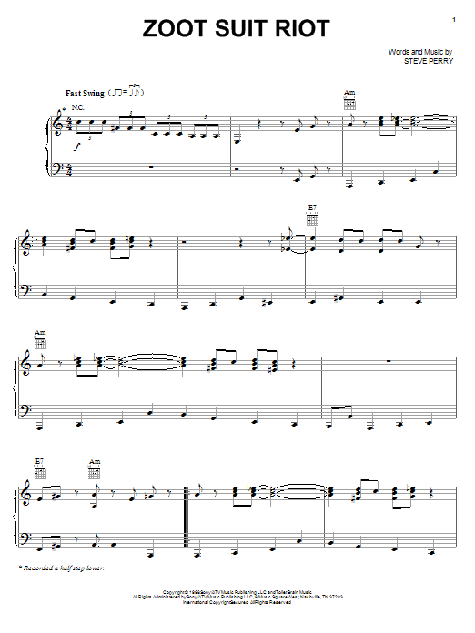 Cherry Poppin' Daddies Zoot Suit Riot sheet music notes and chords. Download Printable PDF.
