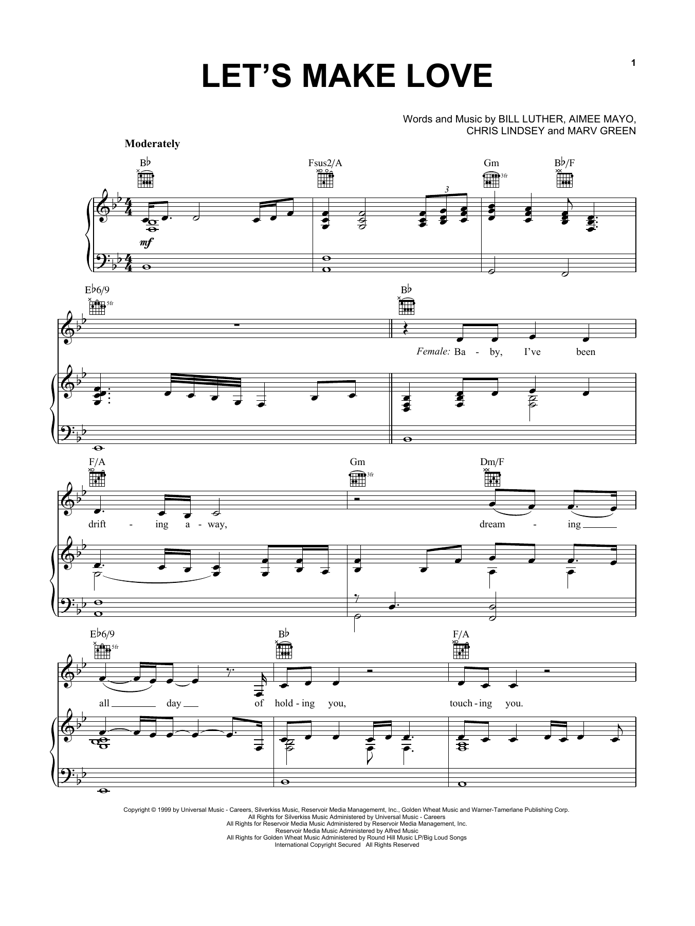 Faith Hill with Tim McGraw Let's Make Love sheet music notes and chords. Download Printable PDF.
