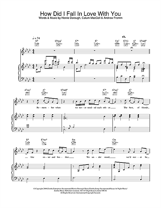 Backstreet Boys How Did I Fall In Love With You sheet music notes and chords. Download Printable PDF.